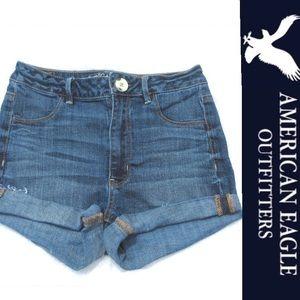 American Eagle High-Rise Denim Shorts